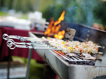 Grilling i bakgården