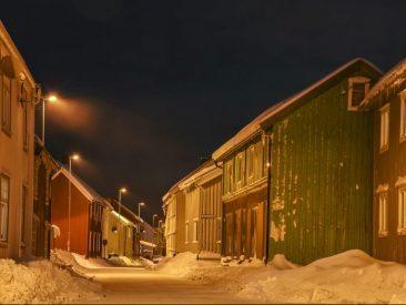 Kaares gate i snø