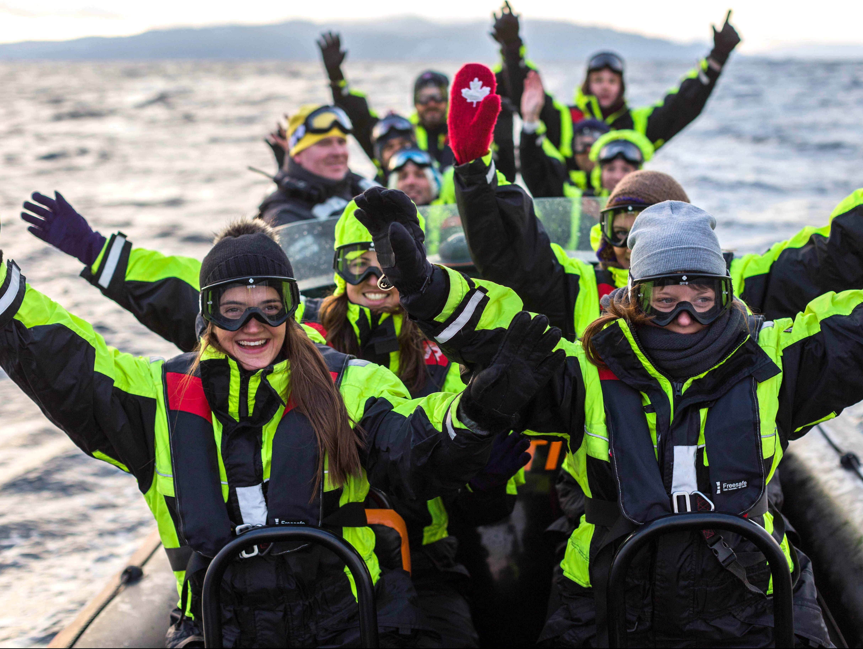 RIB på fjorden er en attraktiv gruppeaktivitet