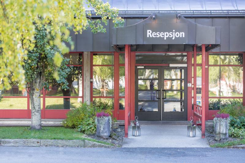 Inngangsparti Bårdshaug Herregård hotellet