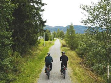 Lei elsykler og sykle i Orklaparken
